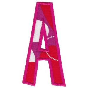 Comic Alphabet Applique Capital A