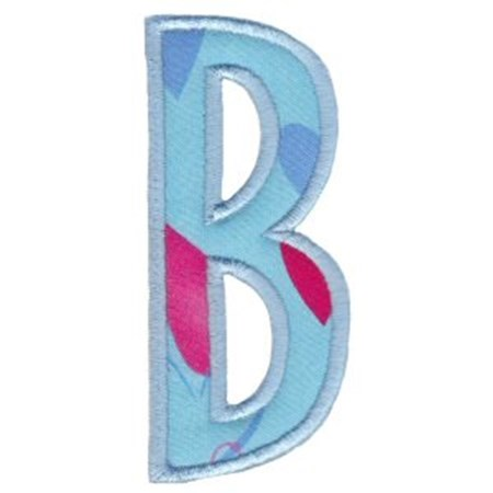 Comic Alphabet Applique Capital B