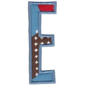 Comic Alphabet Applique Capital E