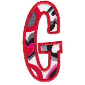 Comic Alphabet Applique Capital G