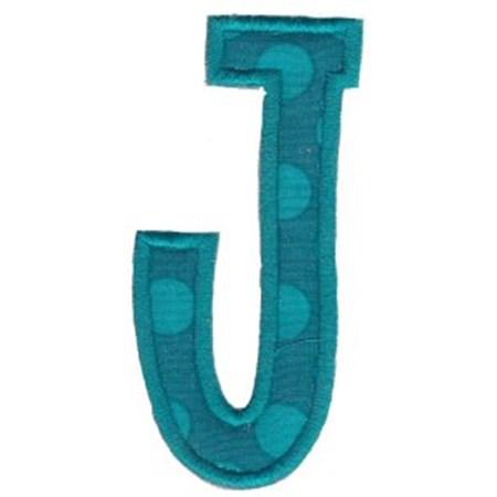 Comic Alphabet Applique Capital J