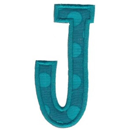 Comic Alphabet Applique Capital J