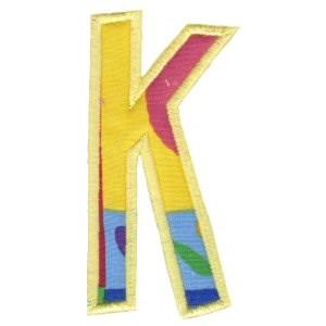 Comic Alphabet Applique Capital K