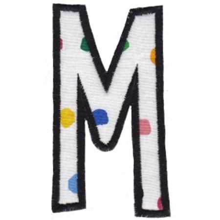 Comic Alphabet Applique Capital M