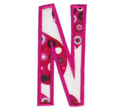 Comic Alphabet Applique Capital N