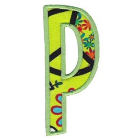 Comic Alphabet Applique Capital P