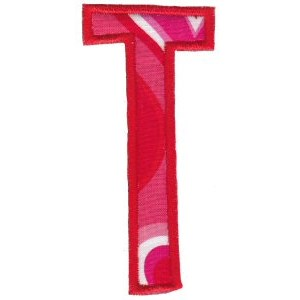 Comic Alphabet Applique Capital T