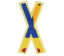 Comic Alphabet Applique Capital X