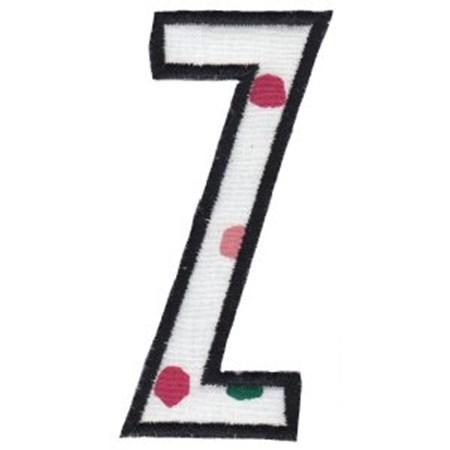 Comic Alphabet Applique Capital Z