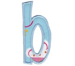 Comic Alphabet Applique Lower Case b