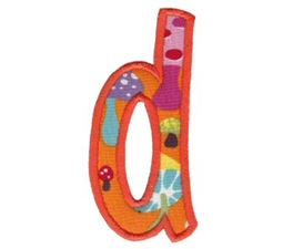Comic Alphabet Applique Lower Case d
