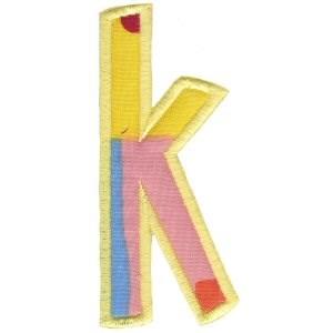 Comic Alphabet Applique Lower Case k