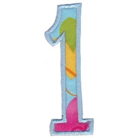 Comic Alphabet Applique Number 1