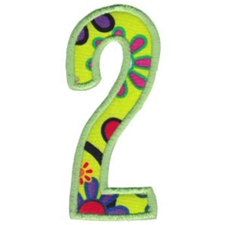 Comic Alphabet Applique Number 2