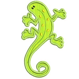 Crazy Lizards Applique 5