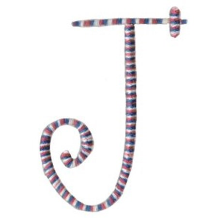 Curlz Alphabet J