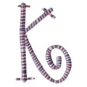 Curlz Alphabet K