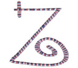 Curlz Alphabet Z