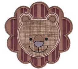 Cute Animal Faces Applique 1