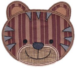 Cute Animal Faces Applique 10