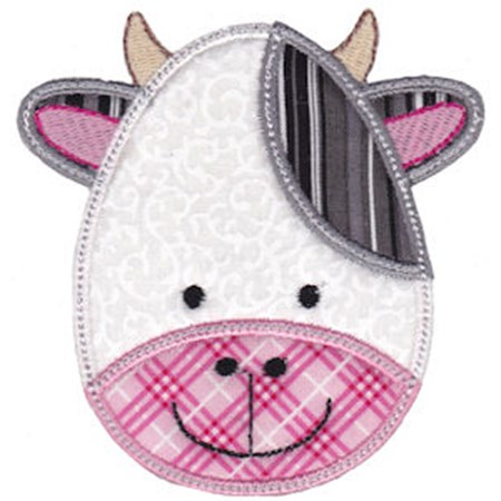 Cute Animal Faces Applique 21