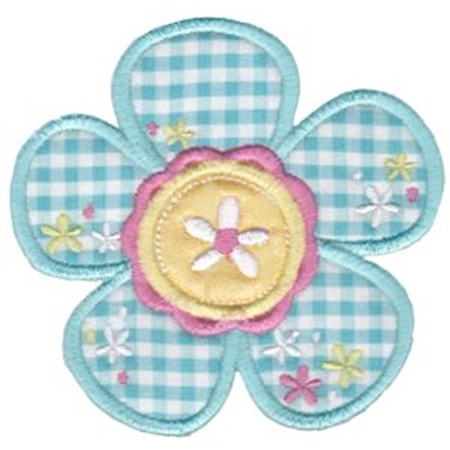 Cute Flower Applique 3