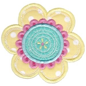 Cute Flower Applique 4