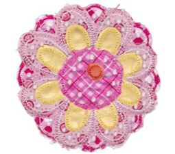 Cute Flower Raggedy Applique 1