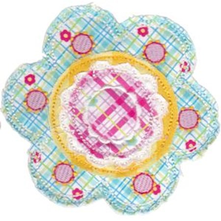 Cute Flower Raggedy Applique 12