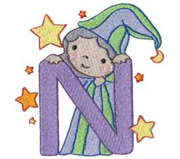 Cuties Alphabet N