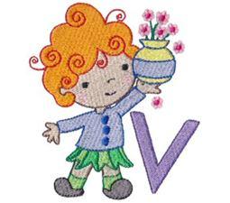 Cuties Alphabet V