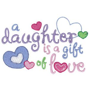Dear Daughter Embroidery Designs