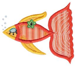 Decorative Sea Creatures Applique 2
