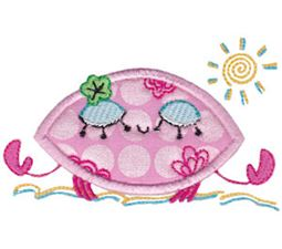 Decorative Sea Creatures Applique 4