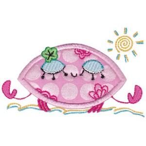 Decorative Sea Creatures Applique 4