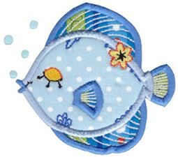 Decorative Sea Creatures Applique 5