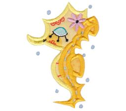 Decorative Sea Creatures Too Applique 1