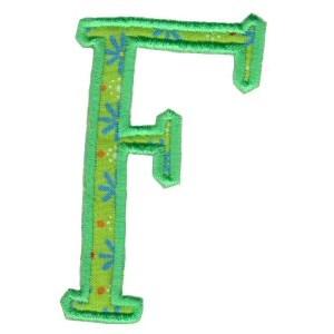 Delicious Applique Alphabet f
