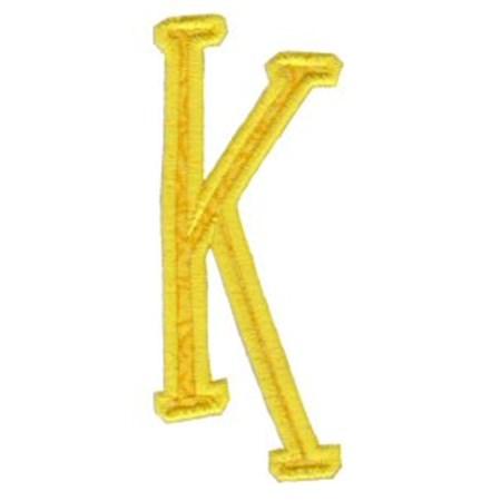 Delicious Applique Alphabet k