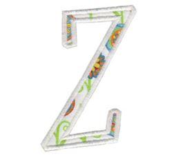 Delicious Applique Alphabet z