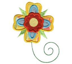 Doodle Flowers Applique 3