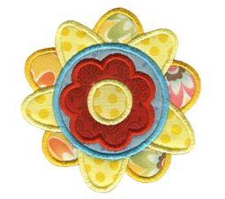 Doodle Flowers Applique 6