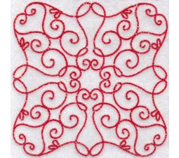 Elegant Quilt Blocks Redwork 1