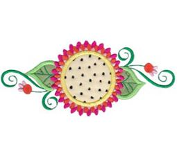 Fancy Flowers Applique 5x7 5