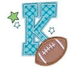 Football Alphabet Applique 11