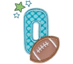 Football Alphabet Applique 15