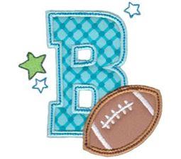 Football Alphabet Applique 2