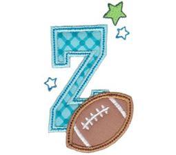 Football Alphabet Applique 26