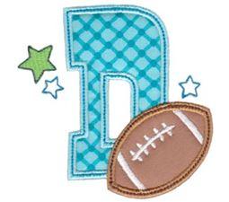 Football Alphabet Applique 4