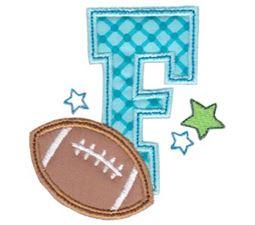 Football Alphabet Applique 6